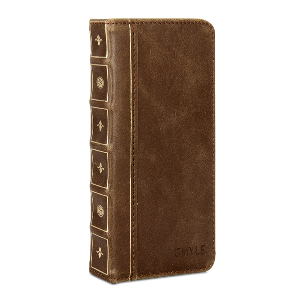 Old Book Case For Iphone : Iphone case gmyle book vintage brown pu leather
