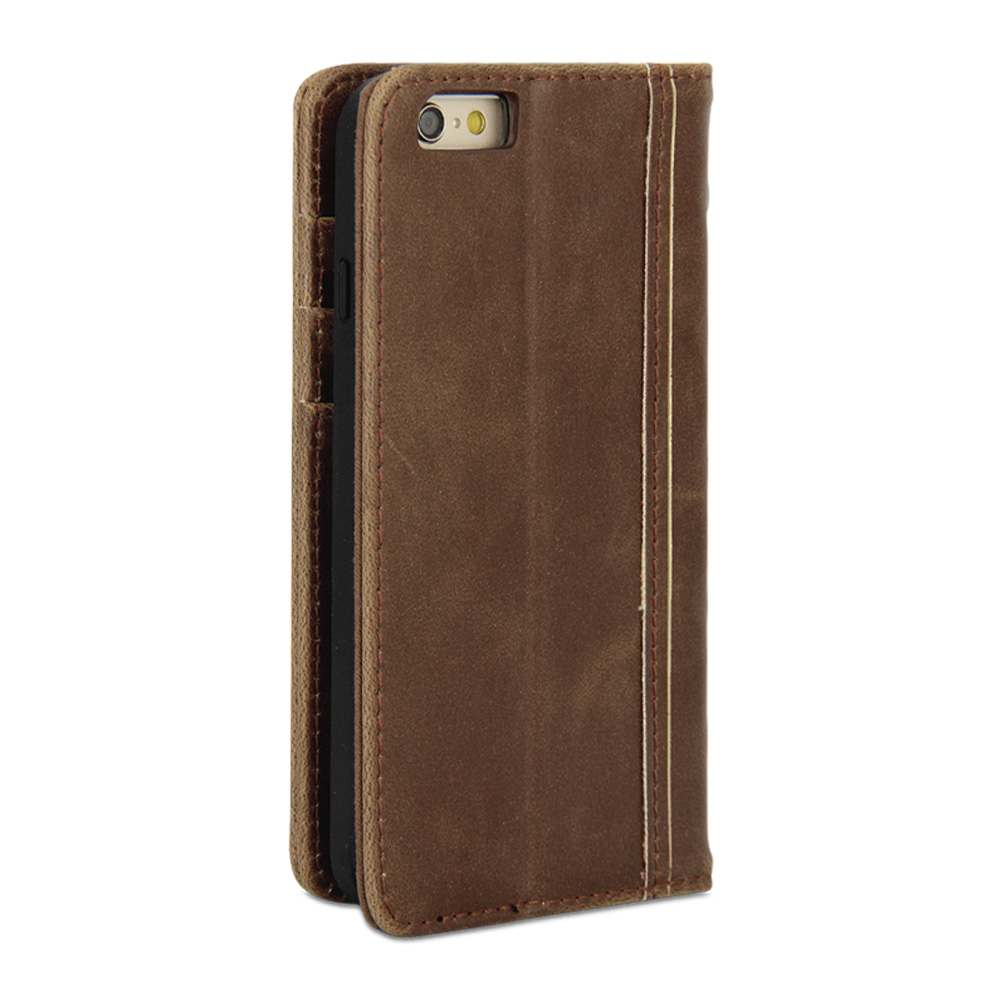 Old Leather Book Iphone Cover : Iphone case gmyle book vintage brown pu leather
