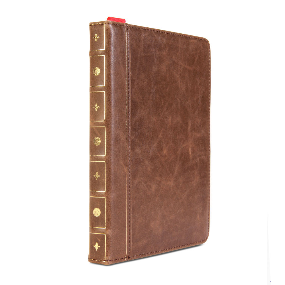 Ipad Mini Classic Book Cover : Brown classic crazy horse pattern pu leather book style