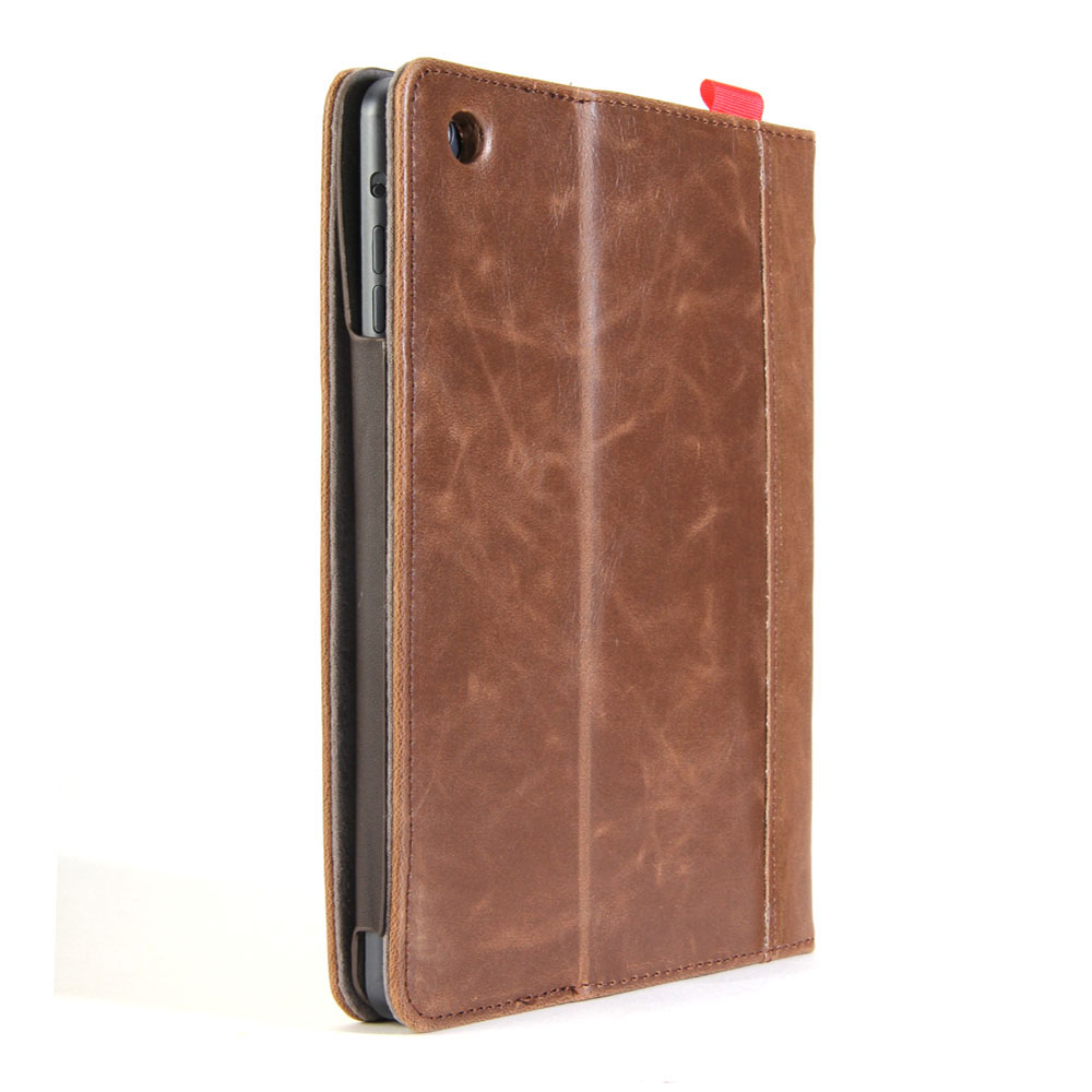 Ipad Classic Book Cover : Brown classic crazy horse pattern pu leather book style