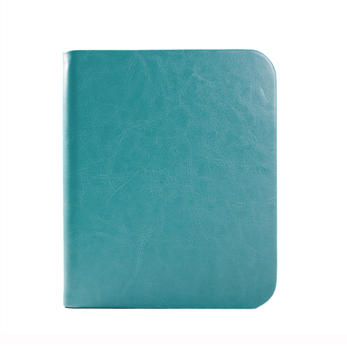 Aqua Blue Premium Microfiber PU Leather Folio Case Cover for Nook Simple Touch