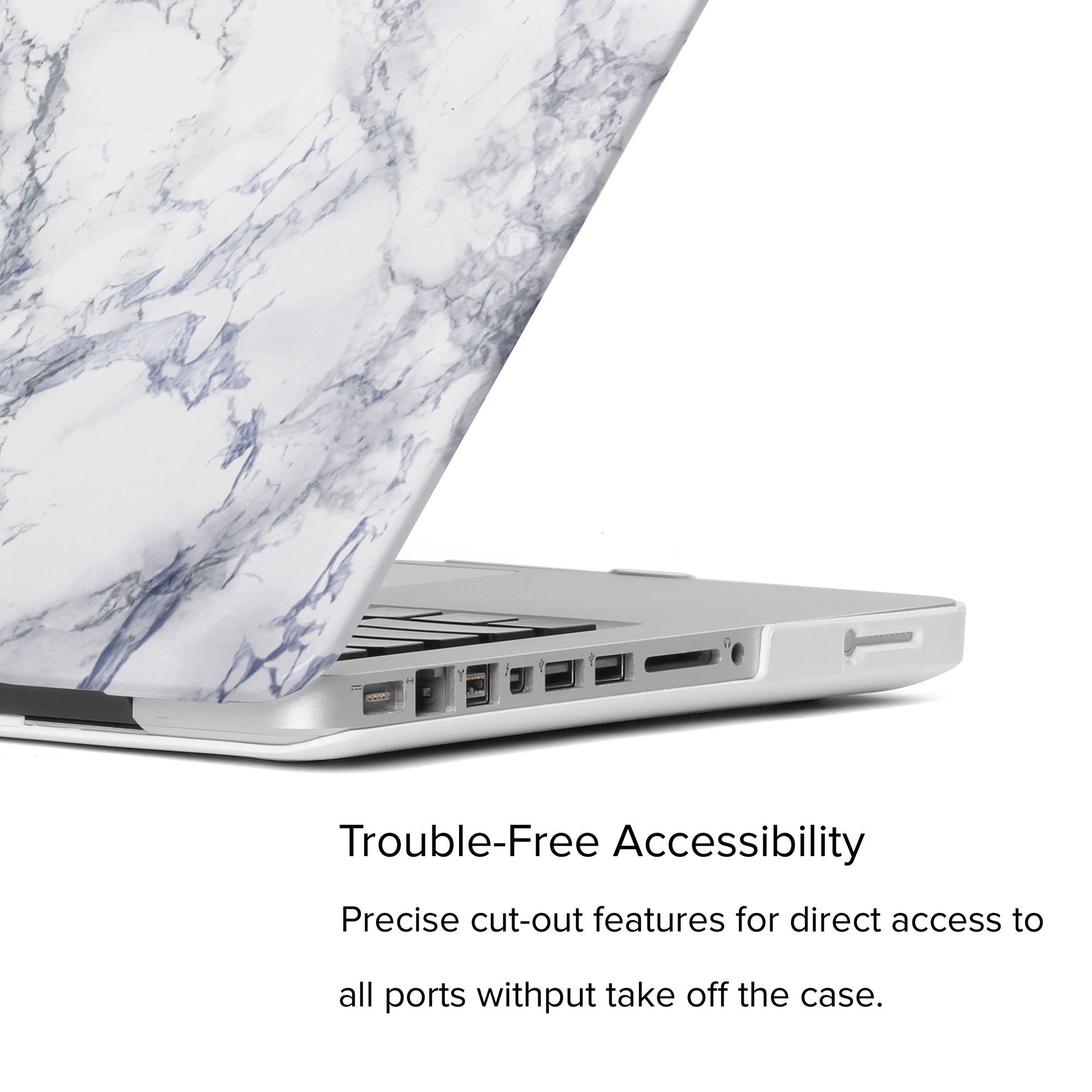 White Macbook Cover : White marble pattern hard shell case cover for macbook pro