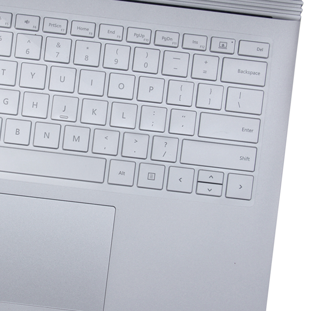Book Cover Layout Keyboard : Transparent keyboard cover for microsoft surface book us
