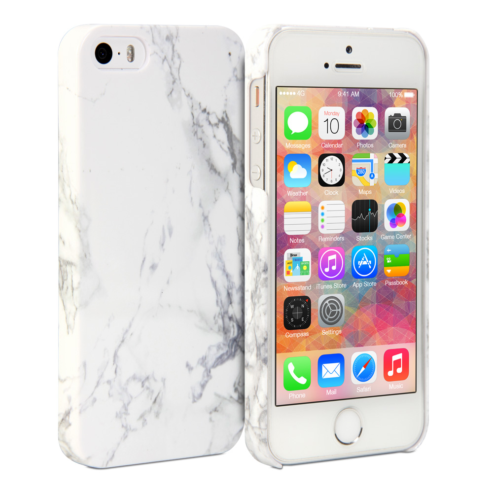 official photos b639a 1e177 Details about White Marble Pattern Soft Print Crystal Cover Case For iPhone  5 5S