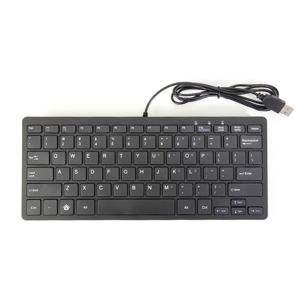 gmyle mini ultra slim wired usb keyboard for windows pc windows 7 vista xp ebay. Black Bedroom Furniture Sets. Home Design Ideas