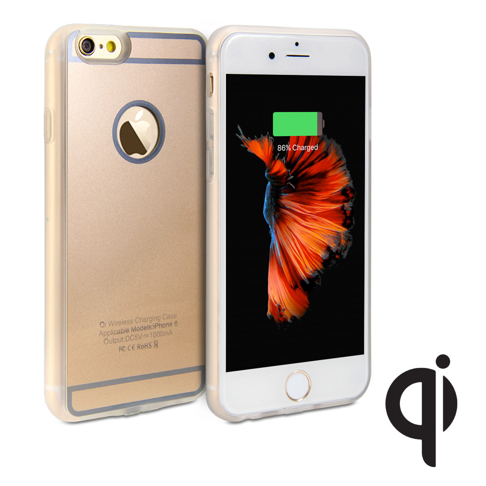 gmyle qi wireless charging receiver soft case for iphone 6s 6 4 7 ebay. Black Bedroom Furniture Sets. Home Design Ideas